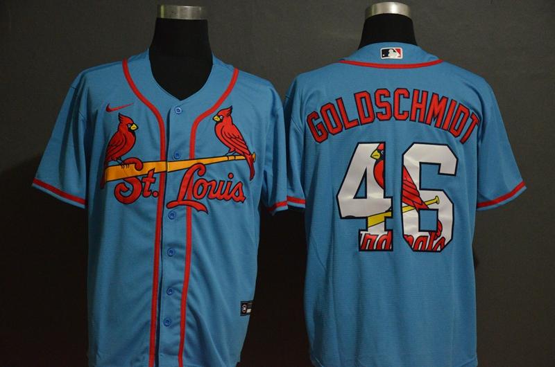 Cardinals 46 Paul Goldschmidt Light Blue 2020 Nike Cool Base Fashion Jersey