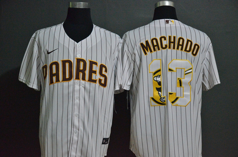 Padres 13 Manny Machado White 2020 Nike Cool Base Fashion Jersey