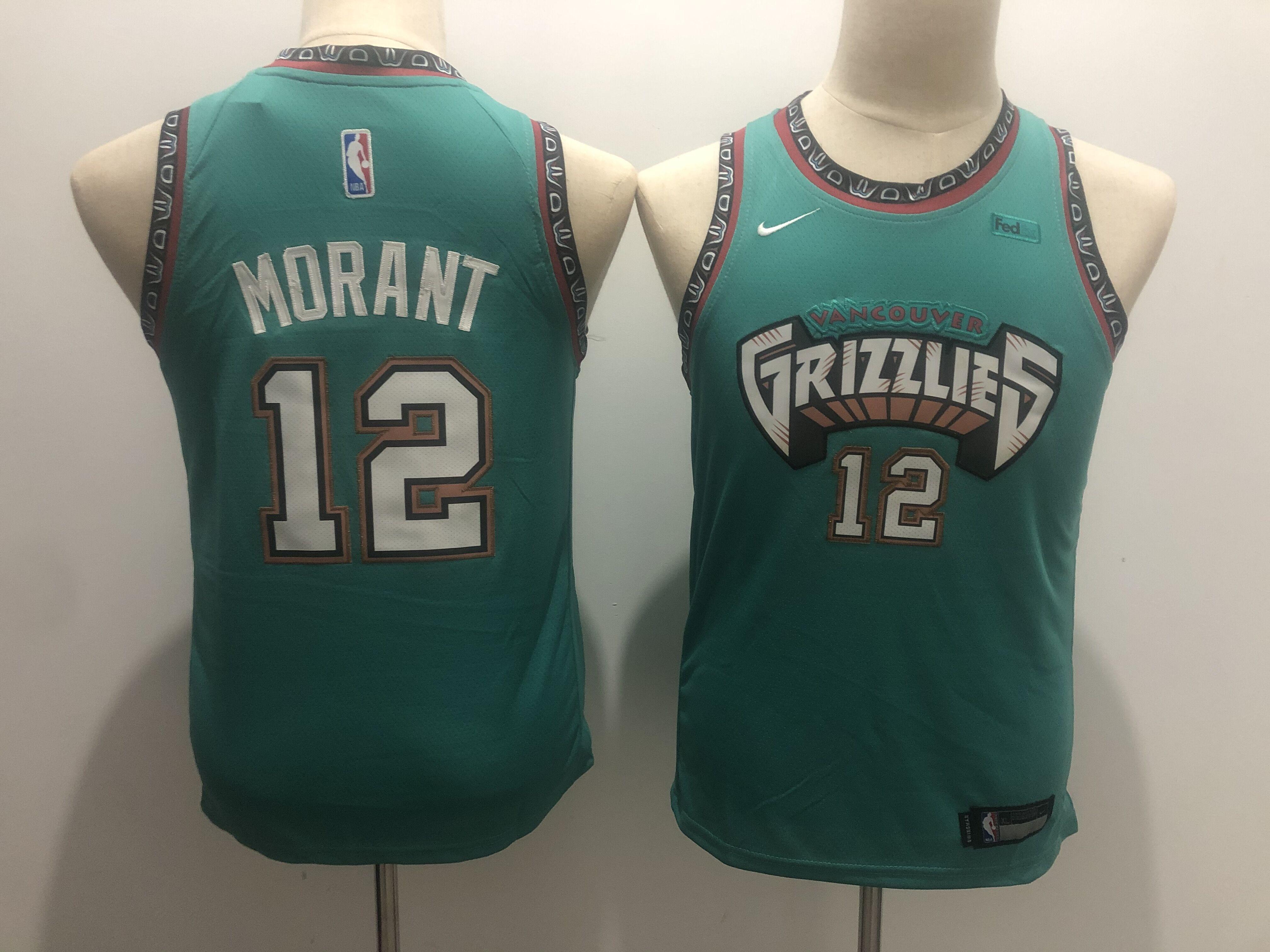 Grizzlies 12 Ja Morant Green Youth Nike Swingman Jersey
