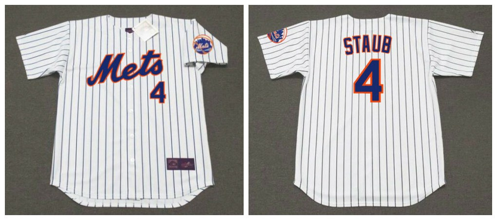 Mets 4 Rusty Staub White Throwback Cool Base Jersey