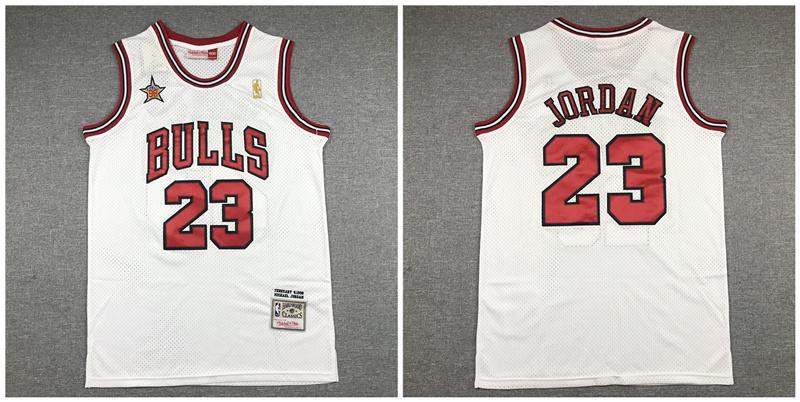 Bulls 23 Michael Jordan White 1998 All-Star Hardwood Classics Jersey