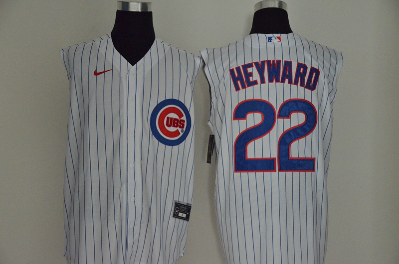 Cubs 22 Jason Heyward White Nike Cool Base Sleeveless Jersey