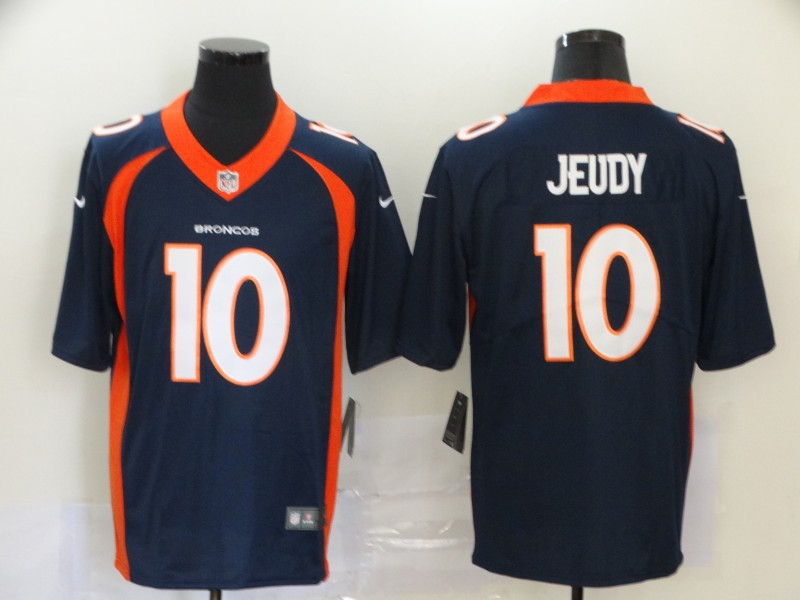 Nike Broncos 10 Jerry Jeudy Navy 2020 NFL Draft First Round Pick Vapor Untouchable Limited Jersey