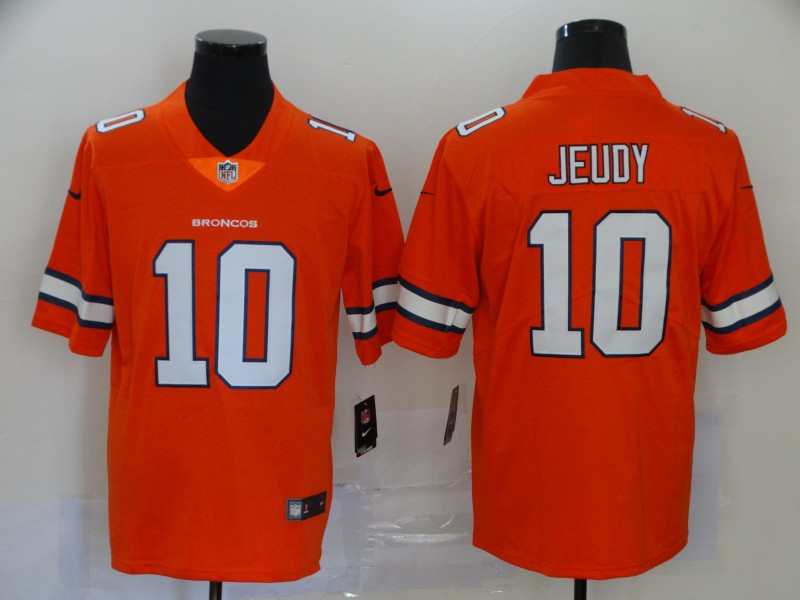 Nike Broncos 10 Jerry Jeudy Orange 2020 NFL Draft First Round Pick Color Rush Limited Jersey