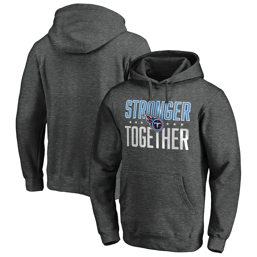 Tennessee Titans Heather Charcoal Stronger Together Pullover Hoodie