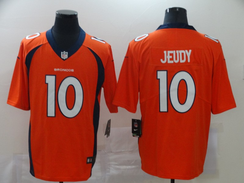 Nike Broncos 10 Jerry Jeudy Orange 2020 NFL Draft First Round Pick Vapor Untouchable Limited Jersey
