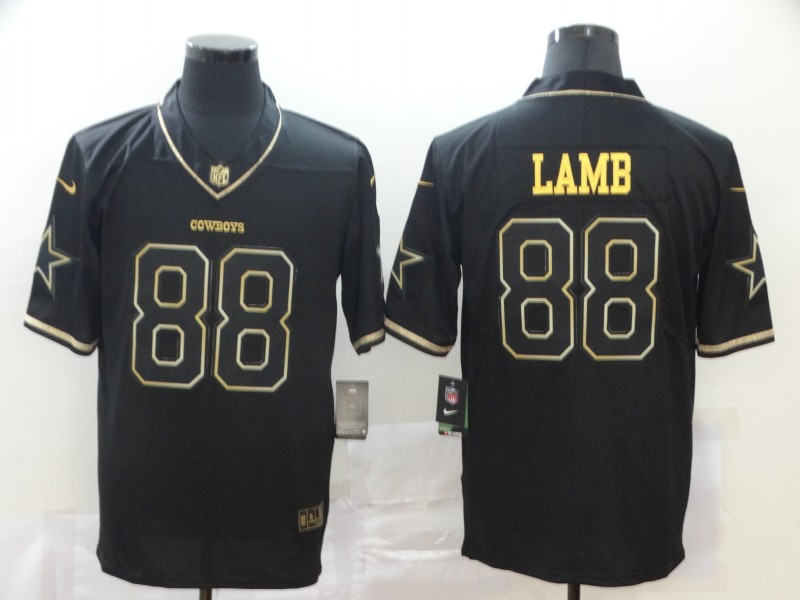 Nike Cowboys 88 Ceedee Lamb Black Gold Vapor Untouchable Limited Jersey