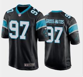 Nike Panthers 97 Yetur Gross-Matos Black 2020 NFL Draft First Round Pick Vapor Untouchable Limited Jersey