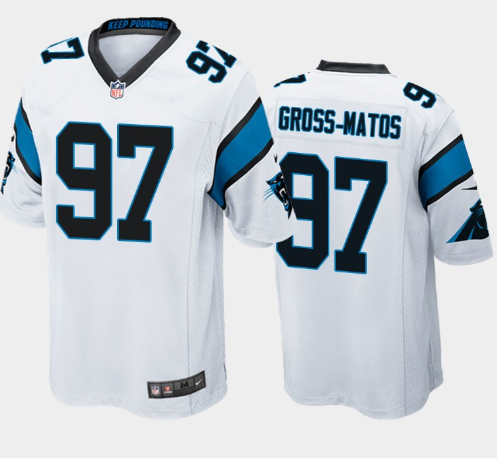 Nike Panthers 97 Yetur Gross-Matos White 2020 NFL Draft First Round Pick Vapor Untouchable Limited Jersey