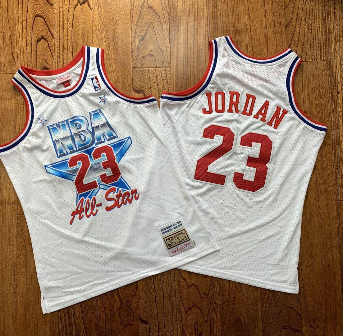 Bulls 23 Michael Jordan White 1981 All-Star Hardwood Classics Jersey