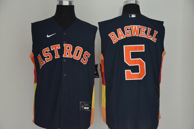 Astros 5 Jeff Bagwell Navy Nike Cool Base Sleeveless Jersey