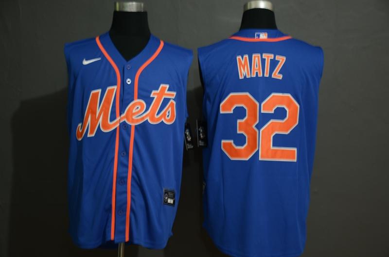 Mets 32 Steven Matz Royal Nike Cool Base Sleeveless Jersey