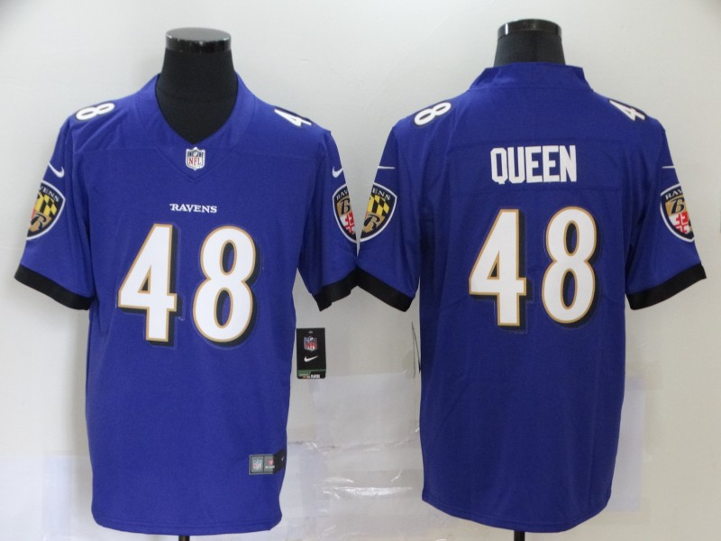 Nike Ravens 48 Patrick Queen Purple 2020 NFL Draft First Round Pick Vapor Untouchable Limited Jersey