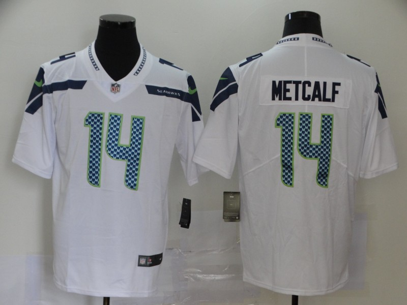 Nike Seahawks 14 D.K. Metcalf White Vapor Untouchable Limited Jersey