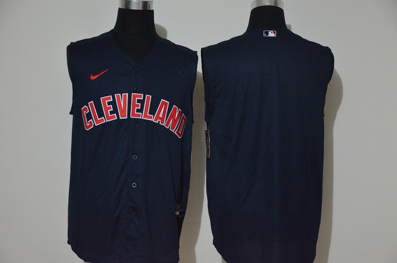 Indians Blank Black Nike Cool Base Sleeveless Jersey