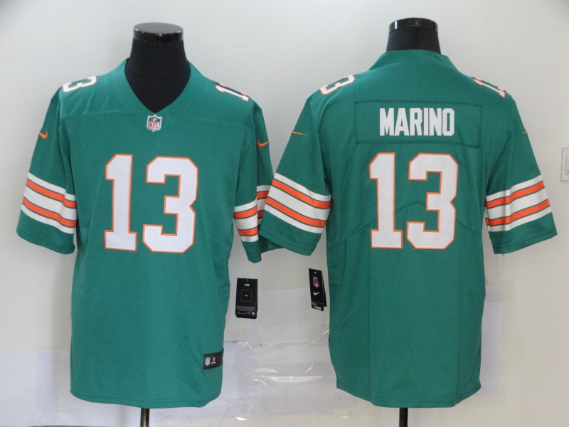 Nike Dolphins 13 Dan Marino Aqua Throwback Vapor Untouchable Limited Jersey