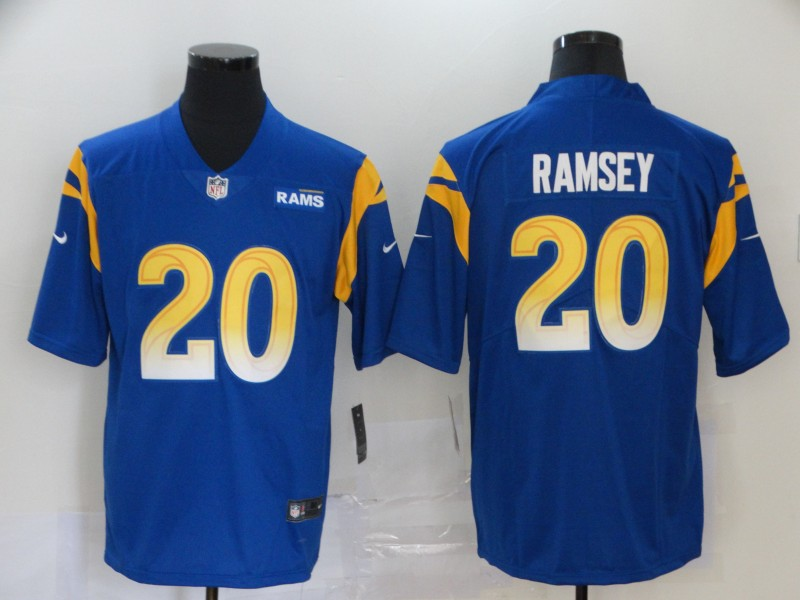 Nike Rams 20 Jalen Ramsey Royal 2020 New Vapor Untouchable Limited Jersey