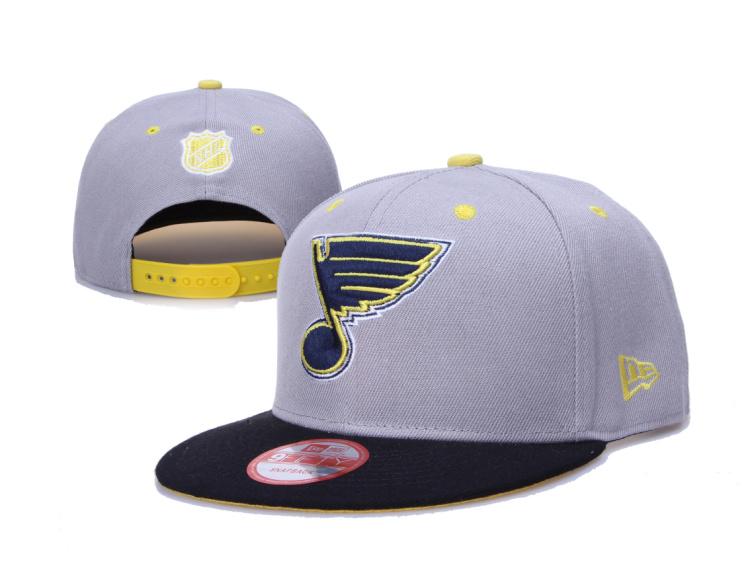 Blues Team Logo Gray Adjustable Hat LH