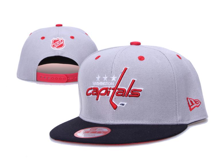 Capitals Team Logo Gray Adjustable Hat LH