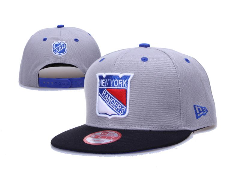 Rangers Team Logo Gray Adjustable Hat LH