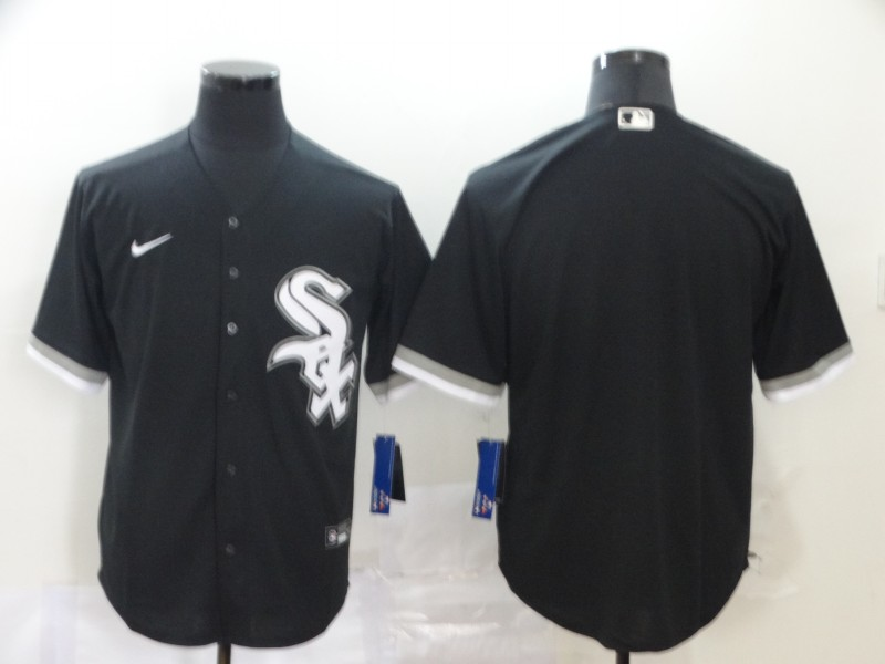 White Sox Blank Black 2020 Nike Cool Base Jersey