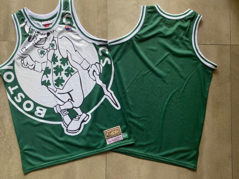 Celtics Big Face Green Hardwood Classics Swingman Jersey