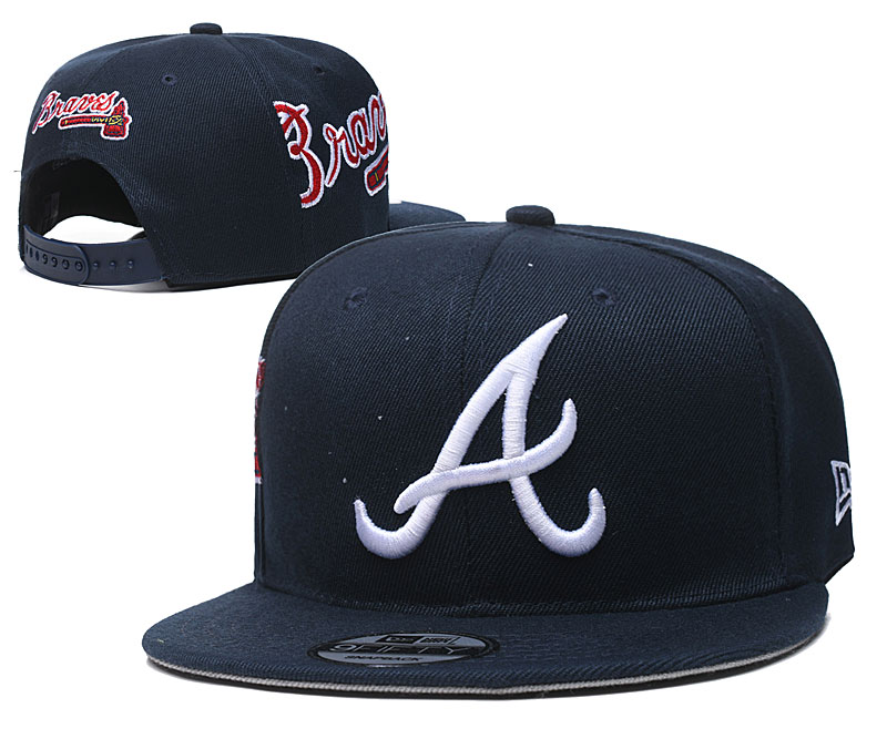Braves Team Logo Navy Adjustable Hat YD