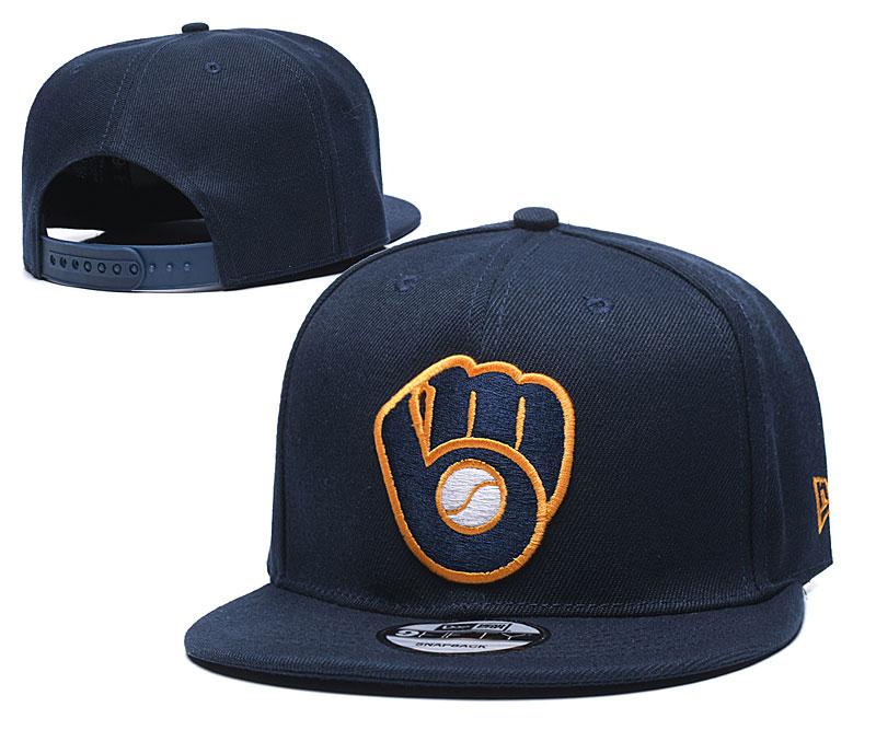 Brewers Team Logo Navy Adjustable Hat TX