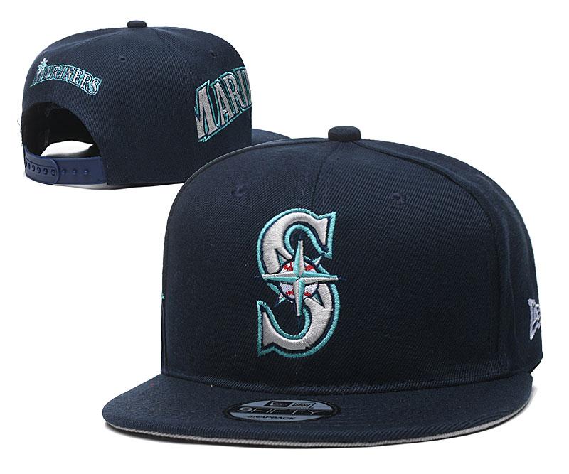 Mariners Team Logo Navy Adjustable Hat YD