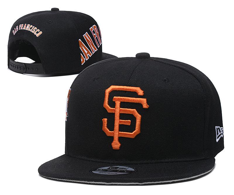San Francisco Giants Fresh Logo Black Adjustable Hat YD