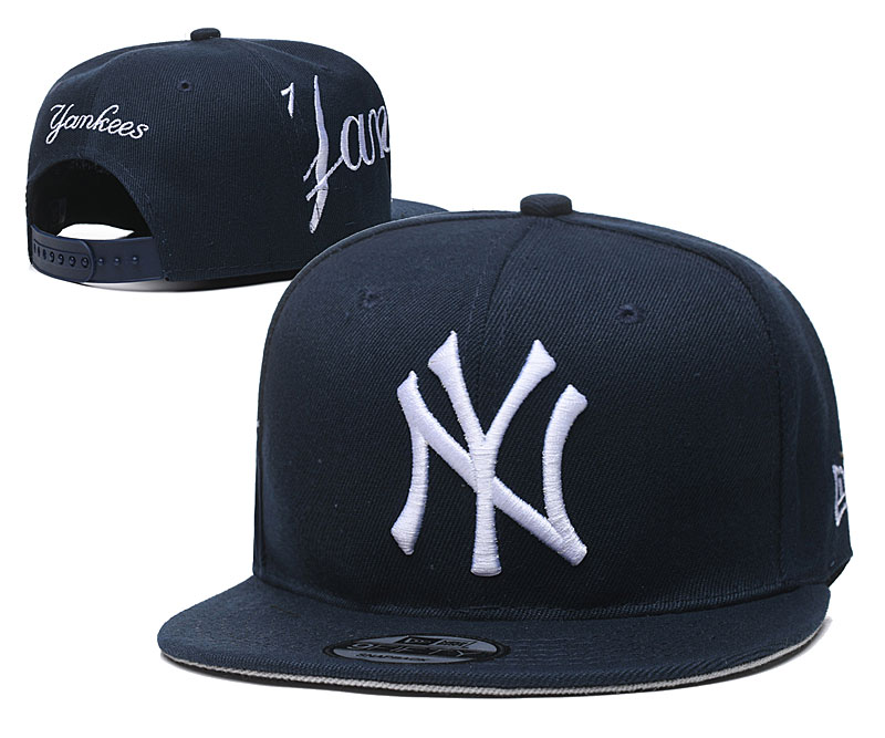 Yankees Fresh Logo Navy Adjustable Hat YD