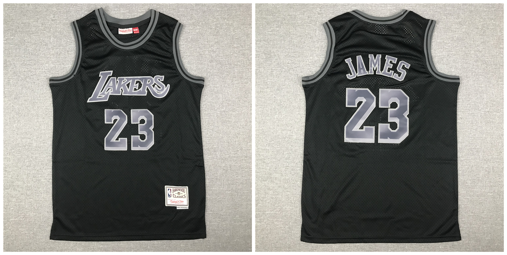 Lakers 23 Lebron James Black Hardwood Classics Jersey