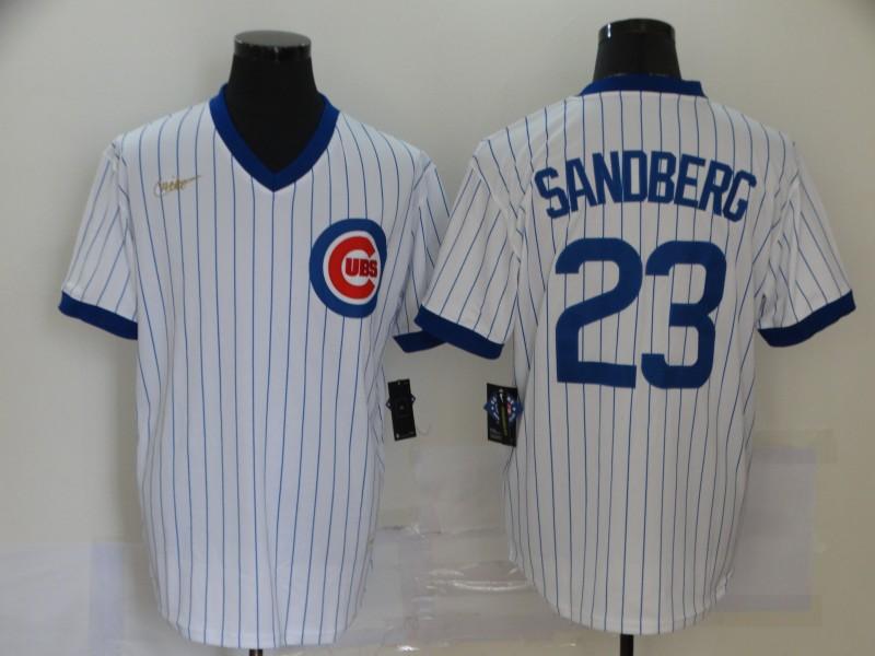 Cubs 23 Ryne Sandberg White Nike Cool Base Jersey