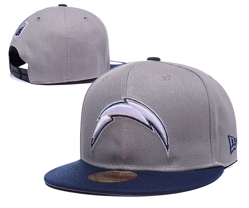 Chargers Team Logo Gray Adjustable Hat LH