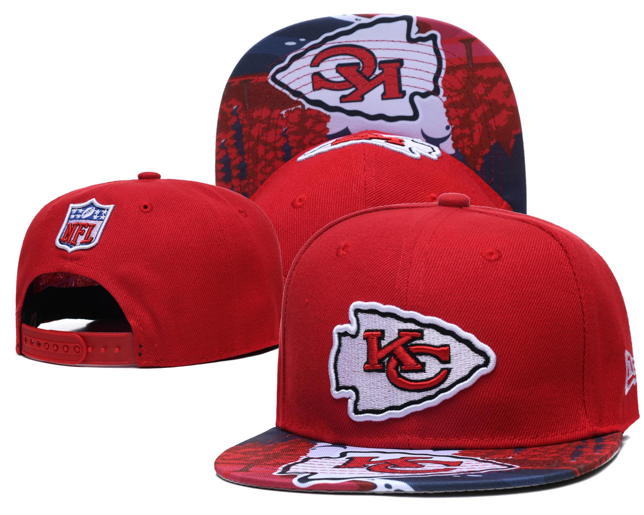 Chiefs Team Logo Red Adjustable Hat LH