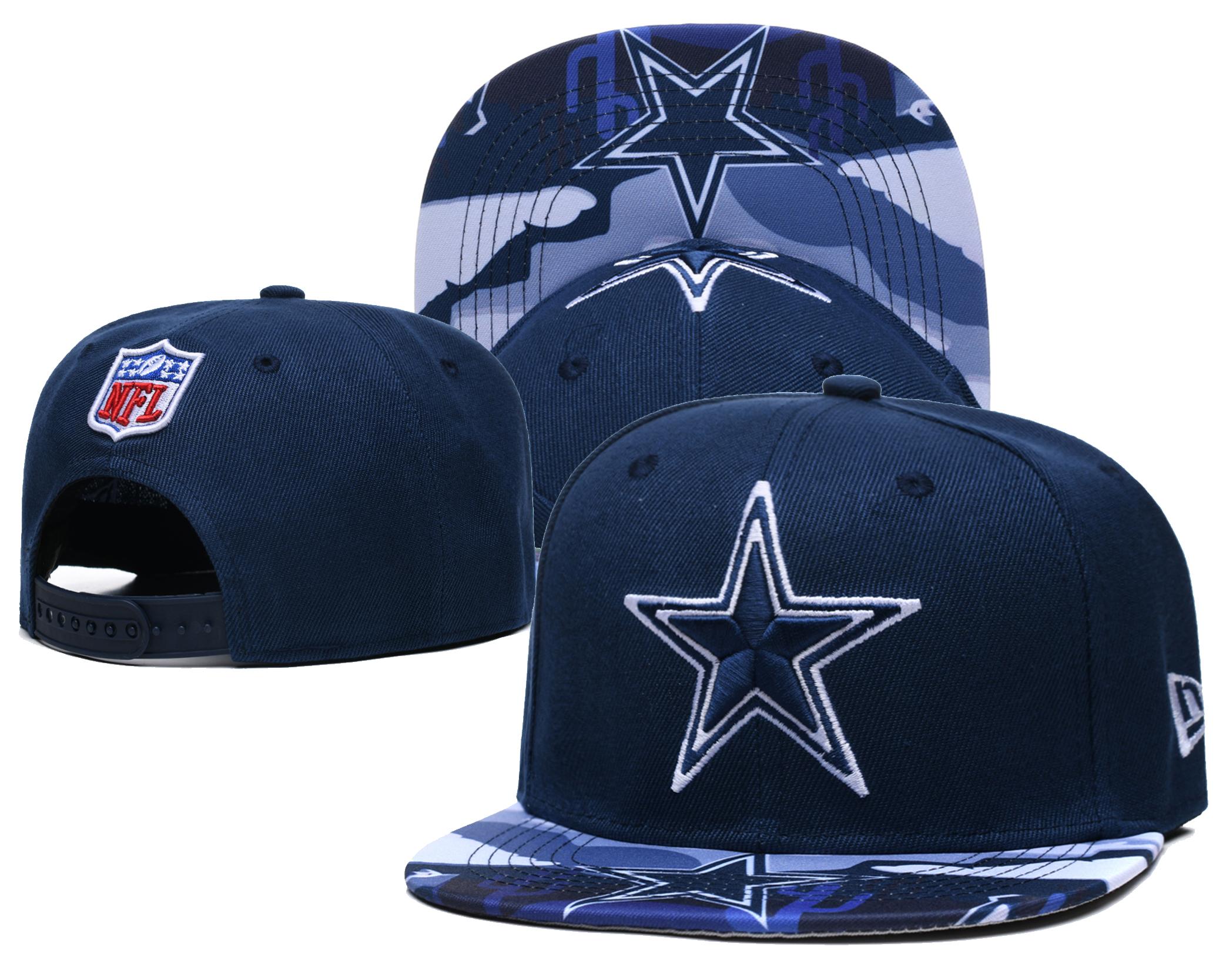 Cowboys Team Logo Navy Adjustable Hat LH
