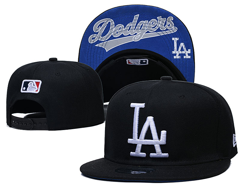 Dodgers Team Logo Black Adjustable Hat GS