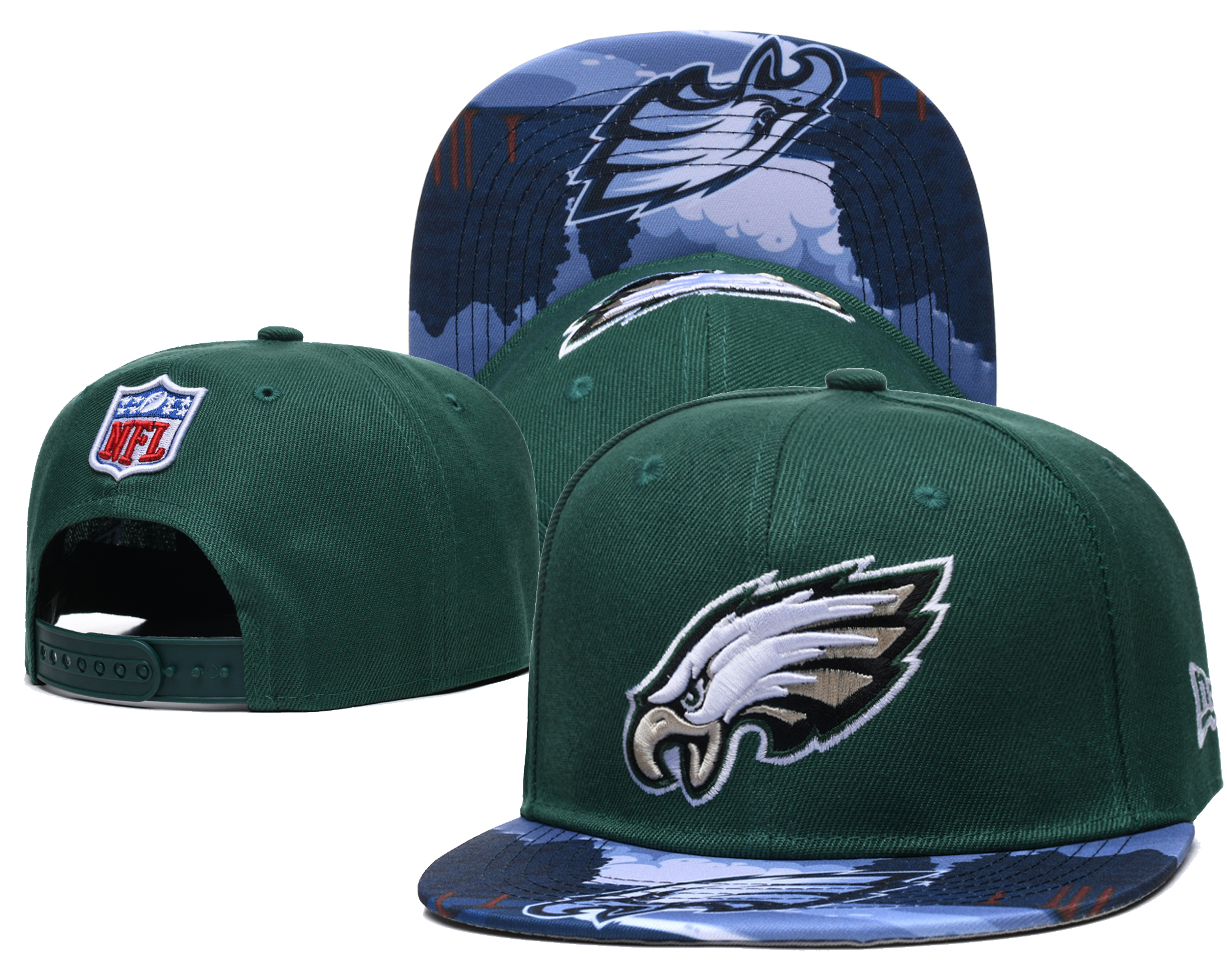 Eagles Team Logo Green Adjustable Hat LH