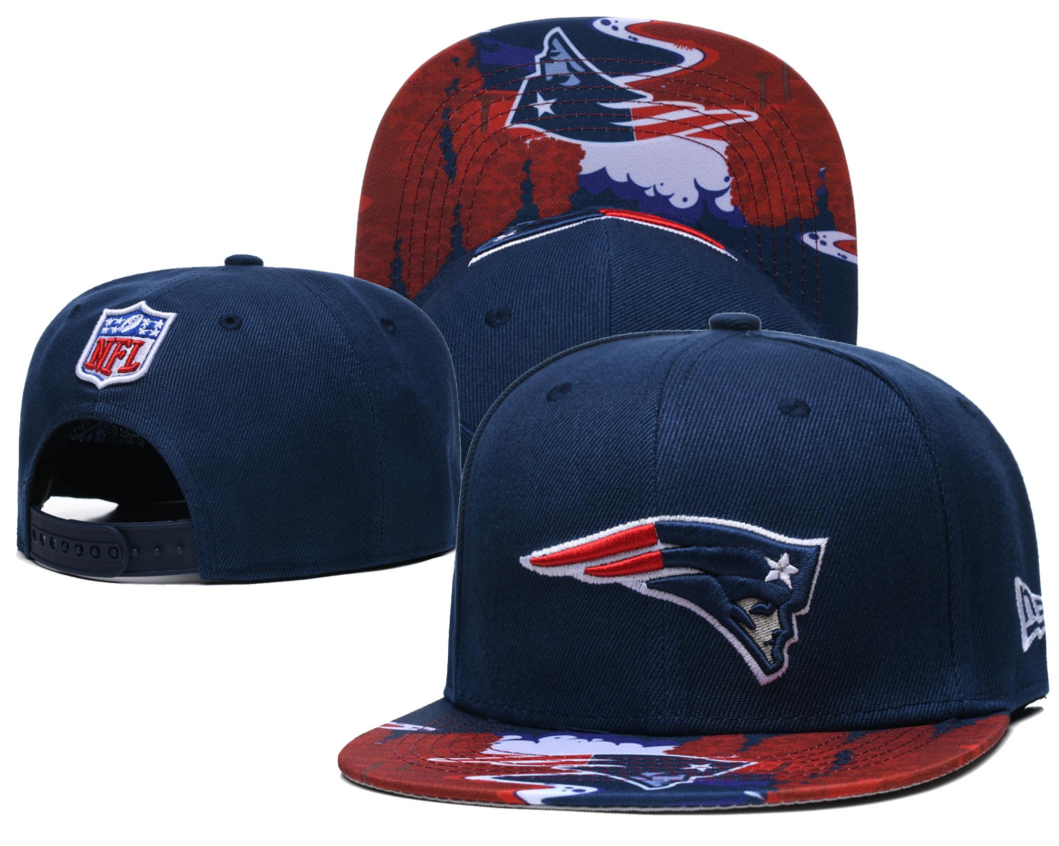 Patriots Team Logo Navy Adjustable Hat LH
