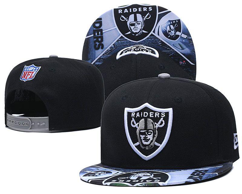 Raiders Fresh Logo Black Adjustable Hat LH