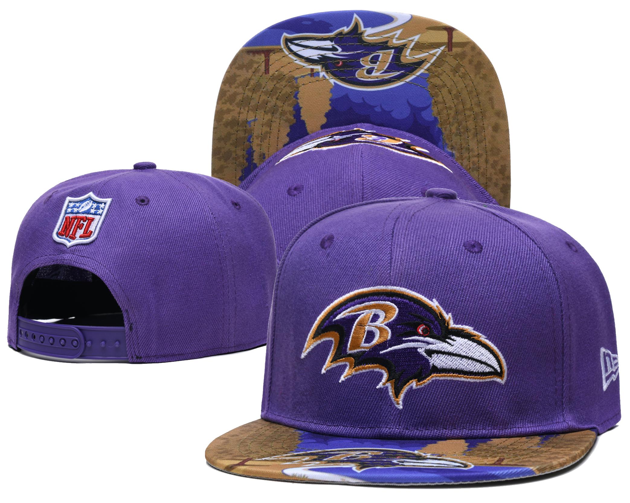 Ravens Team Logo Purple Adjustable Hat LH