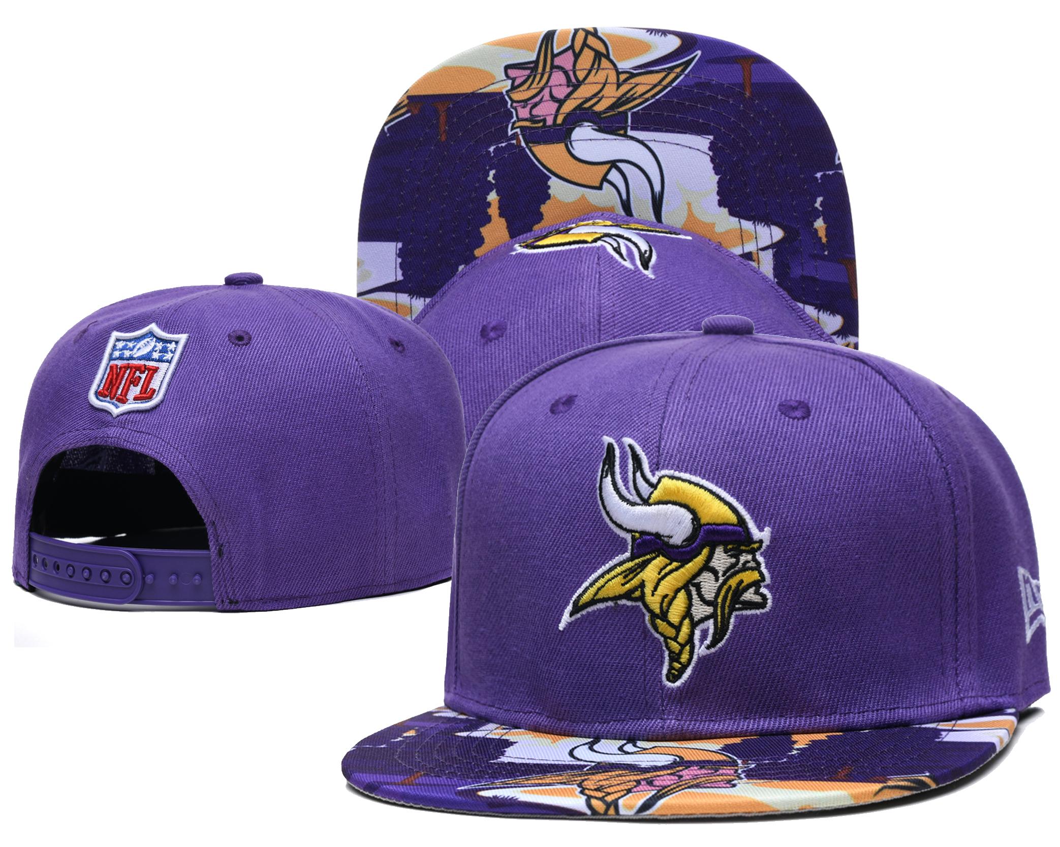 Vikings Team Logo Purple Adjustable Hat LH