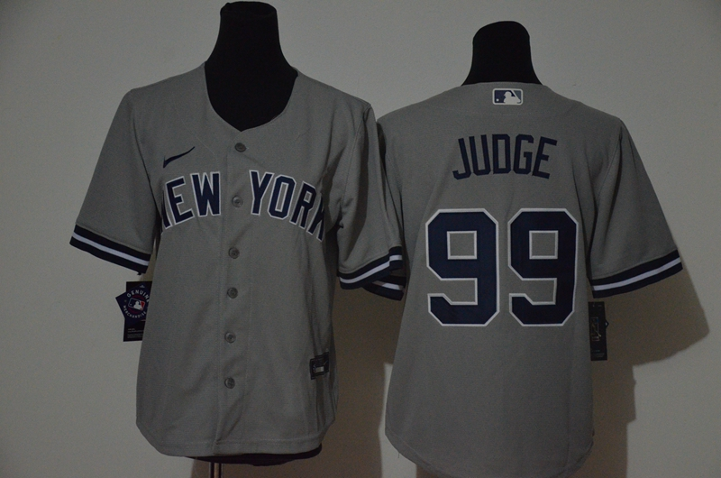 Yankees 99 Aaron Judge Gray Women 2020 Nike Cool Base Jersey