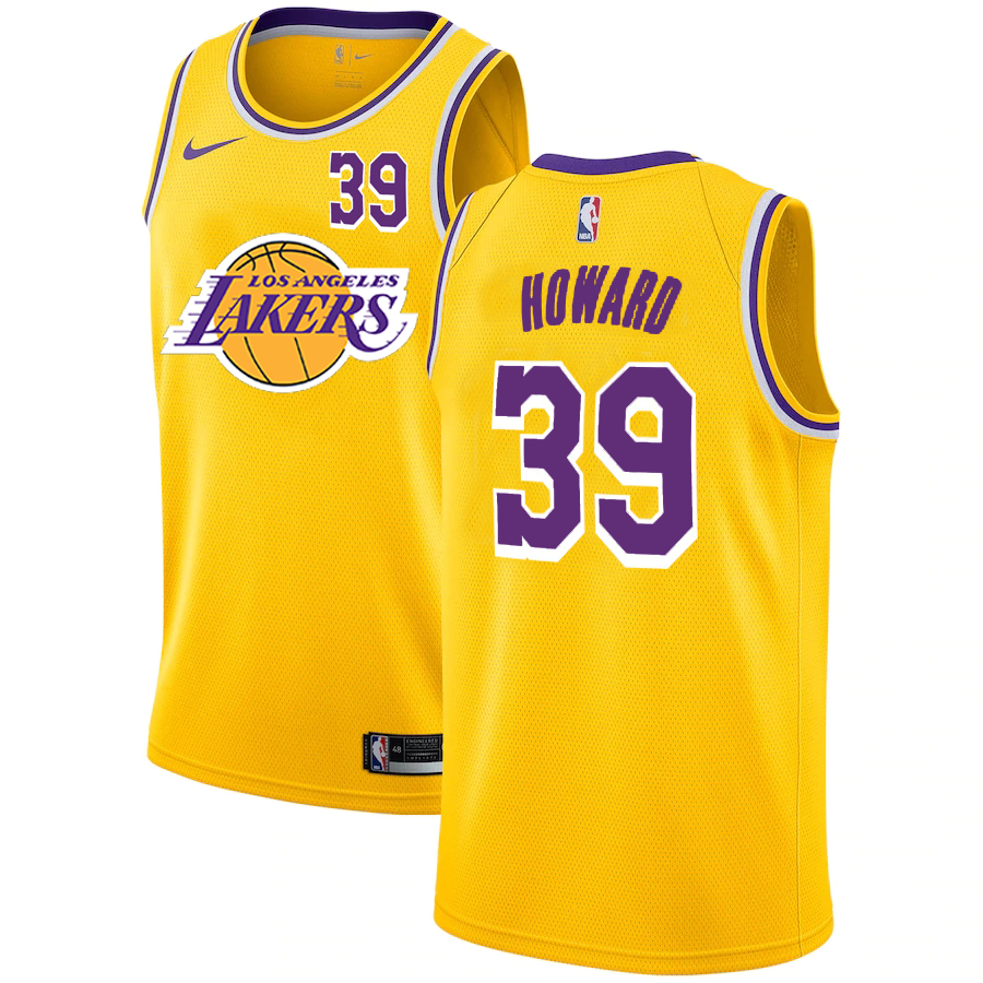 Lakers 39 Dwight Howard Yellow 2020-2021 New City Edition Nike Swingman Jerseys