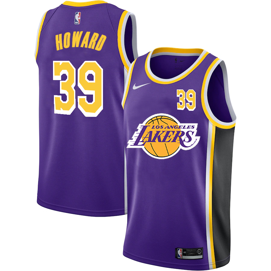 Lakers 39 Dwight Howard Purple 2020-2021 New City Edition Nike Swingman Jersey