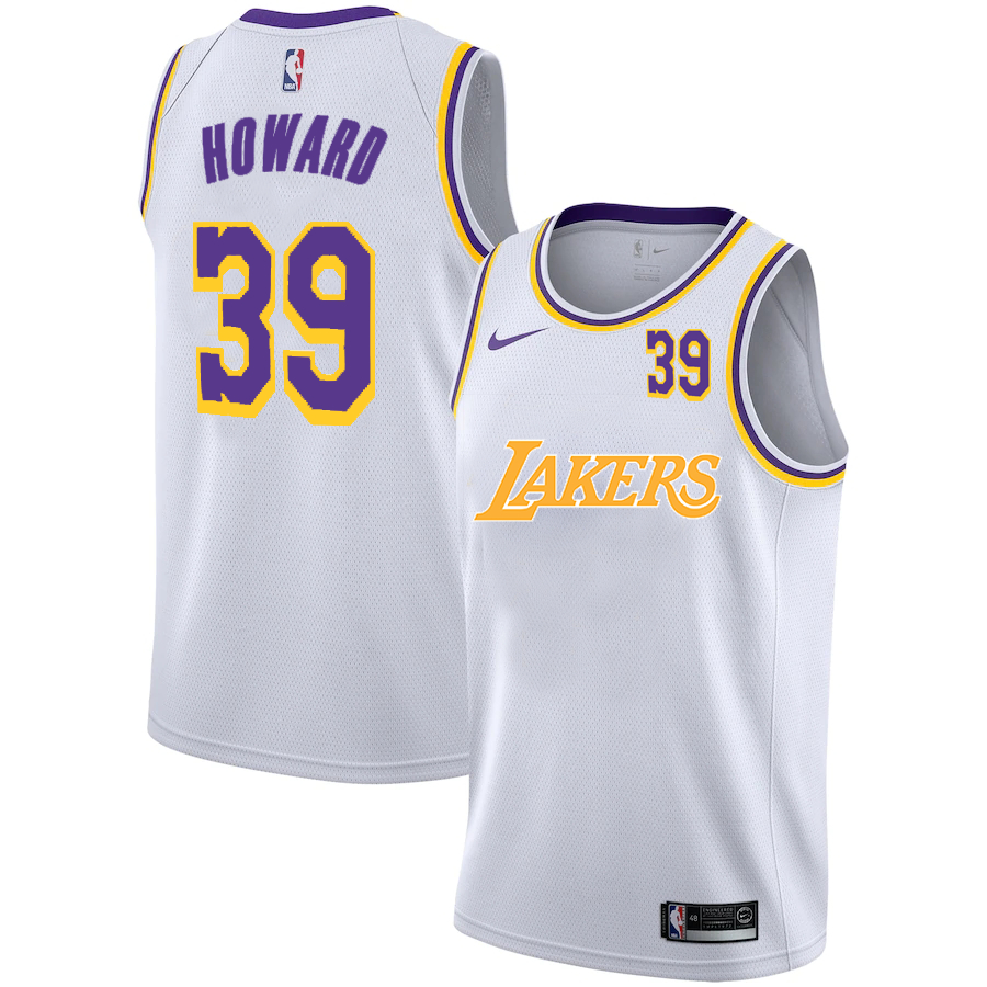 Lakers 39 Dwight Howard White 2020-2021 New City Edition Nike Swingman Jerseys