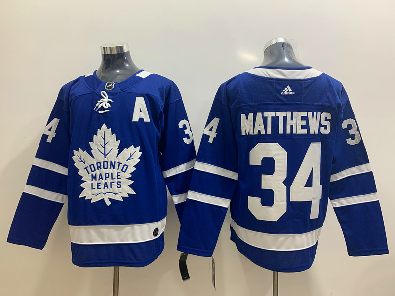 Maple Leafs 34 Auston Matthews Blue Adidas Jersey
