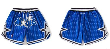Magic Blue Just Don With Pocket Swingman Shorts