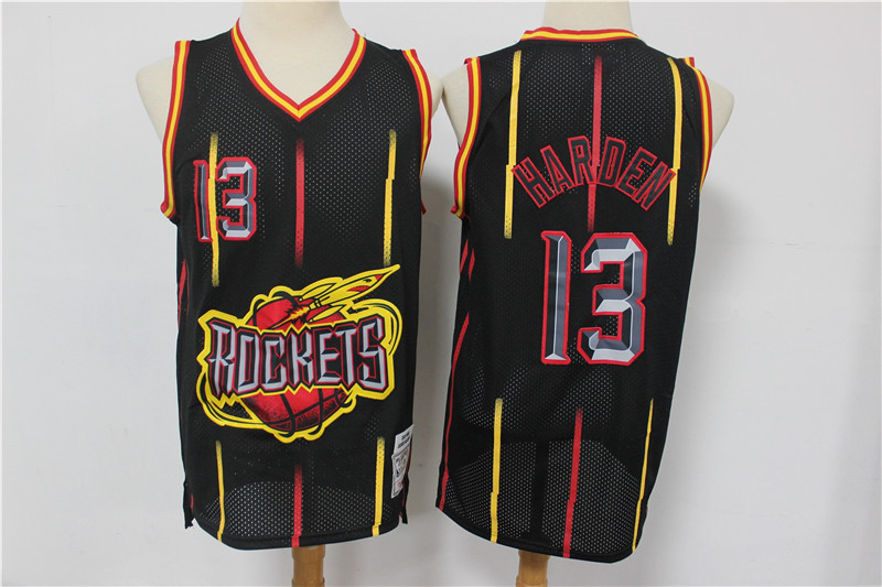 Rockets 13 James Harden Black Hardwood Classics Jersey
