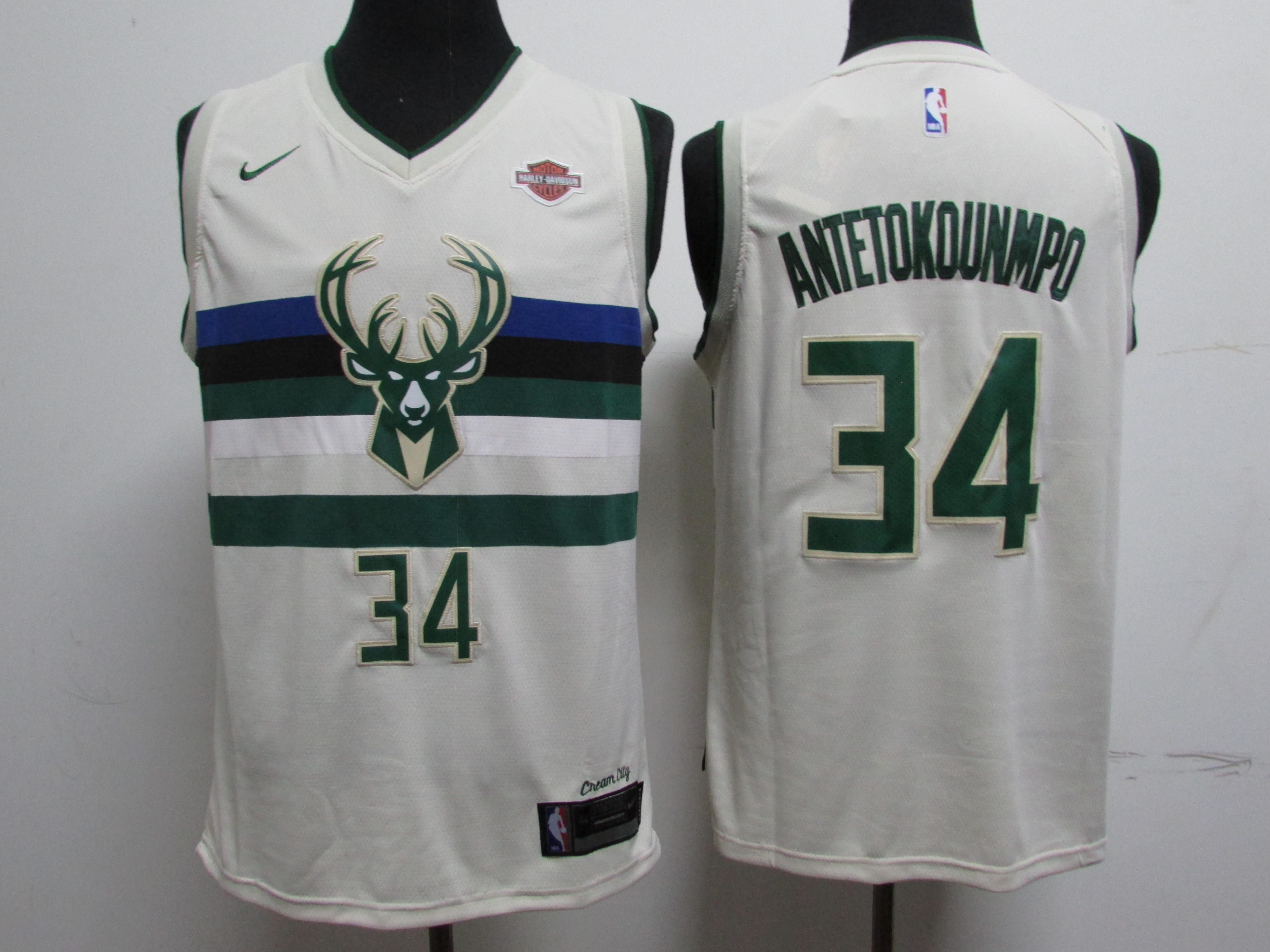 Bucks 34 Giannis Antetokounmpo White City Edition Swingman Jersey